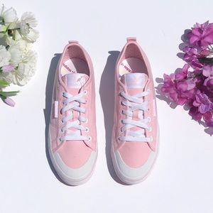 Pink Canvas Adidas Sneakers
